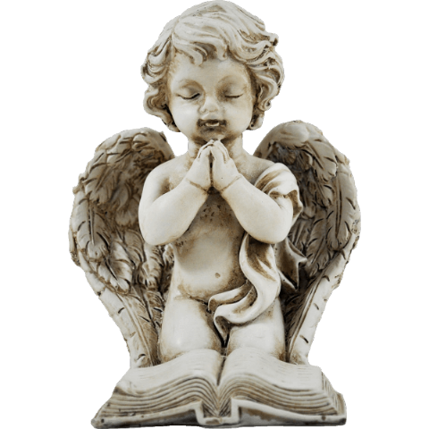 Praying  Cherub With Prayer Book
